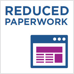 Reduced Paperwork