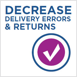 Decrease Delivery Errors & Returns