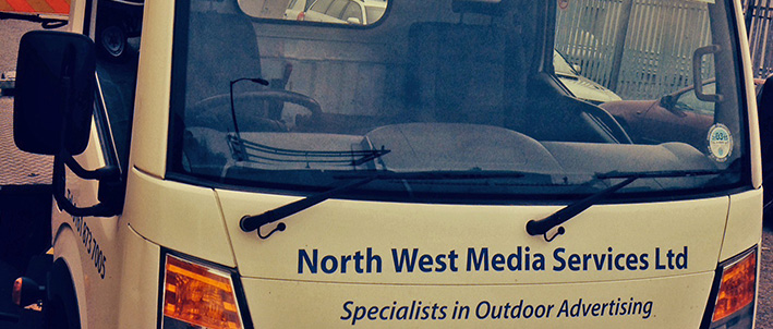 Truck belonging to NW MEdia Services LTD